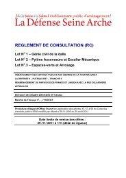 REGLEMENT DE CONSULTATION (RC) - Epadesa