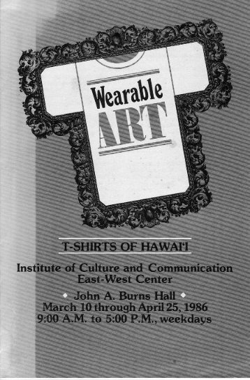 Wearable Art. - John Charlot