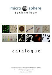 Microsphere Technology Ltd. Product Catalogue