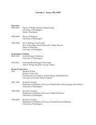 Curriculum Vitae - Surgery Department - University of Minnesota