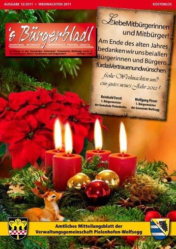 Weihnachtsausgabe 2011 - Druckservice Weiss