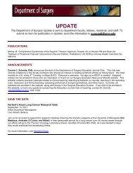 UPDATE - Surgery Department - University of Minnesota