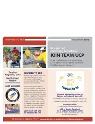 JOIN TEAM UCP - United Cerebral Palsy of Greater Cleveland