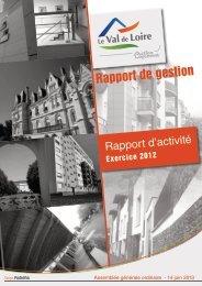 Rapport d'activité exercice 2012.pdf - Val de Loire