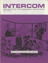Memorex Intercom Newsletter 1969 August