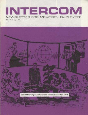 Memorex Intercom Newsletter 1969 August