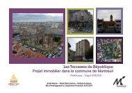 Les Terrasses de République Projet immobilier dans la commune ...