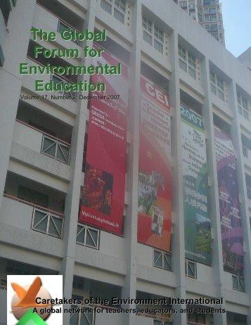 Global Forum 1207 final - Caretakers of the Environment International