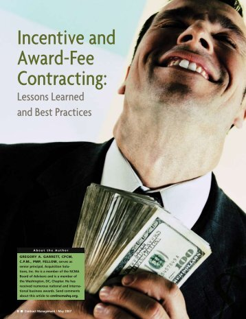 NCMA Article: Incentive and Award-Fee Contracting.