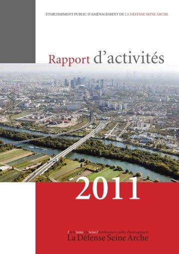 Rapport d'activités de l'EPADESA 2011