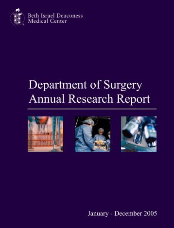 Department of Surgery Annual Research Report