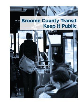 Broome County Transit: Keep It Public Report - Amalgamated ...