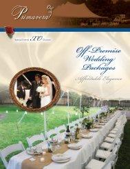 Off-Premise Wedding Packages - Primavera