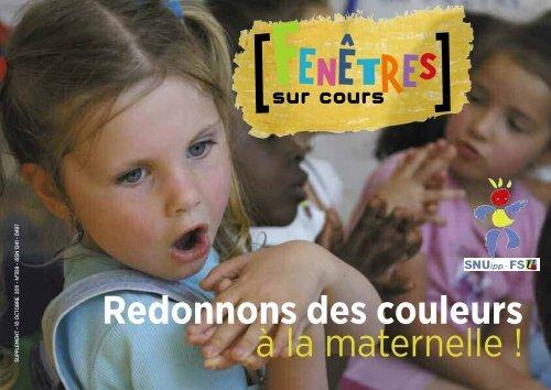 Redonnons des couleurs à la maternelle ! - SNUipp