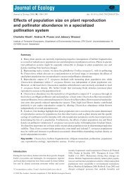 Effects of population size on plant reproduction and pollinator ...