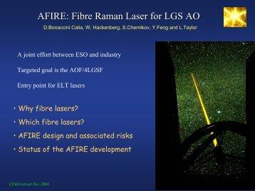 AFIRE: Fibre Raman Laser for LGS AO