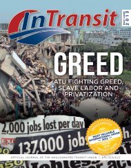 atu fighting greed, slave labor and privatization - Amalgamated ...