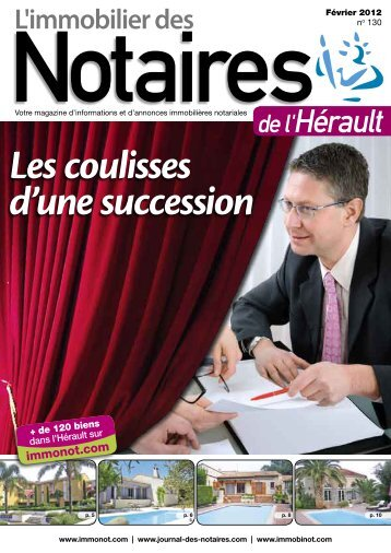 "Journal des Notaires ""Notaires 34"" - Le Journal des Notaires"