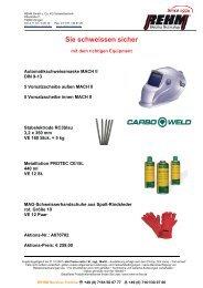 Sie schweissen sicher - Rehm GmbH  u. Co KG