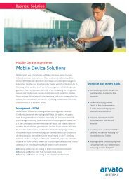 Mobile Device Solutions - arvato Systems