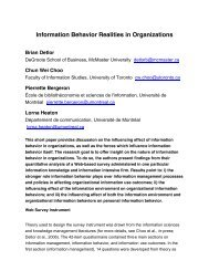 Information behavior realities in organizations - Wiley Online Library