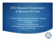 Research - 2013 Convention Presentation - Amalgamated Transit ...
