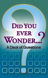 DiD you ever WonDer... - Saint Mary's Press