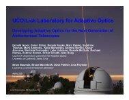 Astro 205 presentation - Laboratory for Adaptive Optics - UCO/Lick ...