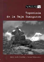 Toponimia de la Baja Guarguera - Diputación Provincial de Huesca
