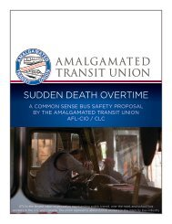 Bus safety starts with standards for drivers - Amalgamated Transit ...