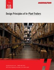 Hamilton Design Principles of In-Plant Trailers