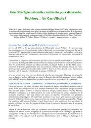 Une Stratégie naturelle contrariée puis dépassée Péchiney… Un ...