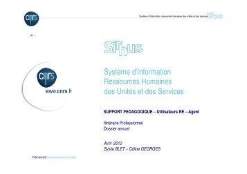 Système d'Information Ressources Humaines des Unités et ... - CNRS