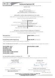 Deklaracja Zgodności WE - LUG