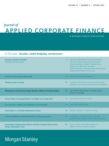 applied corporate finance - Drake College of Business and Public ...