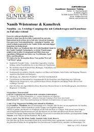 NAMIBIA Wüste Namib, Damaraland & Etosha