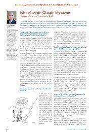 Interview de Claude Imauven