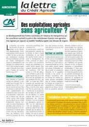 sans agriculteur ? - Crédit Agricole Toulouse 31