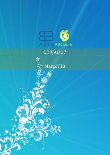 EDIÇÃO 27 - Março/13 - RBCIAMB