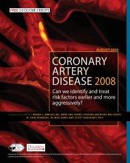 Coronary artery disease 2008 - Partners in Healthcare Education