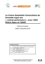 CHU de Grenoble - ARS Rhône-Alpes