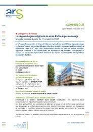 communiqué de presse - ARS Rhône-Alpes