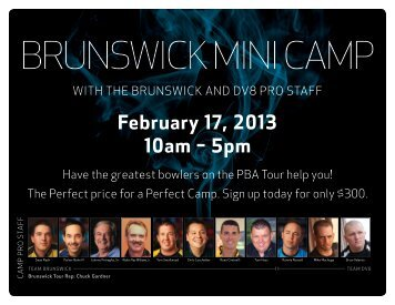 BRUNSWICK MINI CAMP February 17, 2013 From 10am to 5pm
