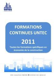 FORMATIONS CONTINUES UNTEC