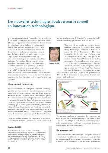 Les nouvelles technologies bouleversent le conseil en innovation ...