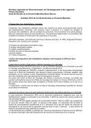 Activités 2012 Charente-Maritime - DREAL Poitou-Charentes