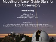 Blue Lines and Gradients - Laboratory for Adaptive Optics - UCO ...