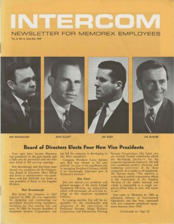Memorex Intercom Newsletter 1969 June - the Information ...