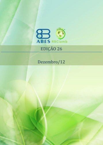 EDIÇÃO 26 - Dezembro/12 - RBCIAMB