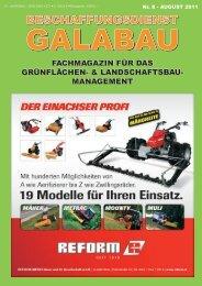 Beschaffungsdienst GaLaBau - Ausgabe August 2011
